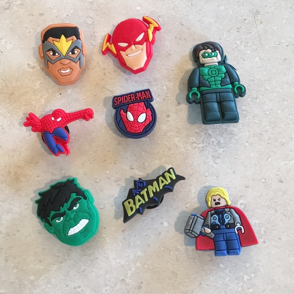 ef6a4048f3 CROCS Accessories | Superhero Croc Jibbitz Charm Lot | Poshmark